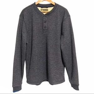 BC Clothing Co Mens Thermal Henley Pullover Fleece